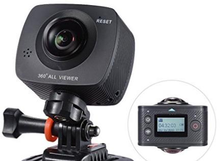 Andoer Dual-Lente 360 Gradi VR 1920 * 960P 30fps HD da 8 Megapixel